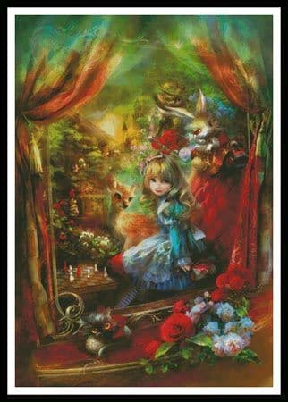Alice Locomotion (Large) by Artecy printed cross stitch chart